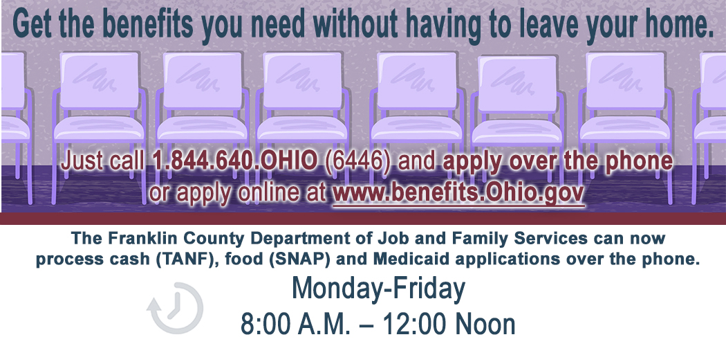 Call In To Apply Food, Cash Assistance